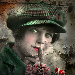 Mixed Media/Altered Art - Reworked Vintage Photo (collage a day) Tags: art collage mixedmedia digitalart montage alteredart vintagephoto alteredphoto