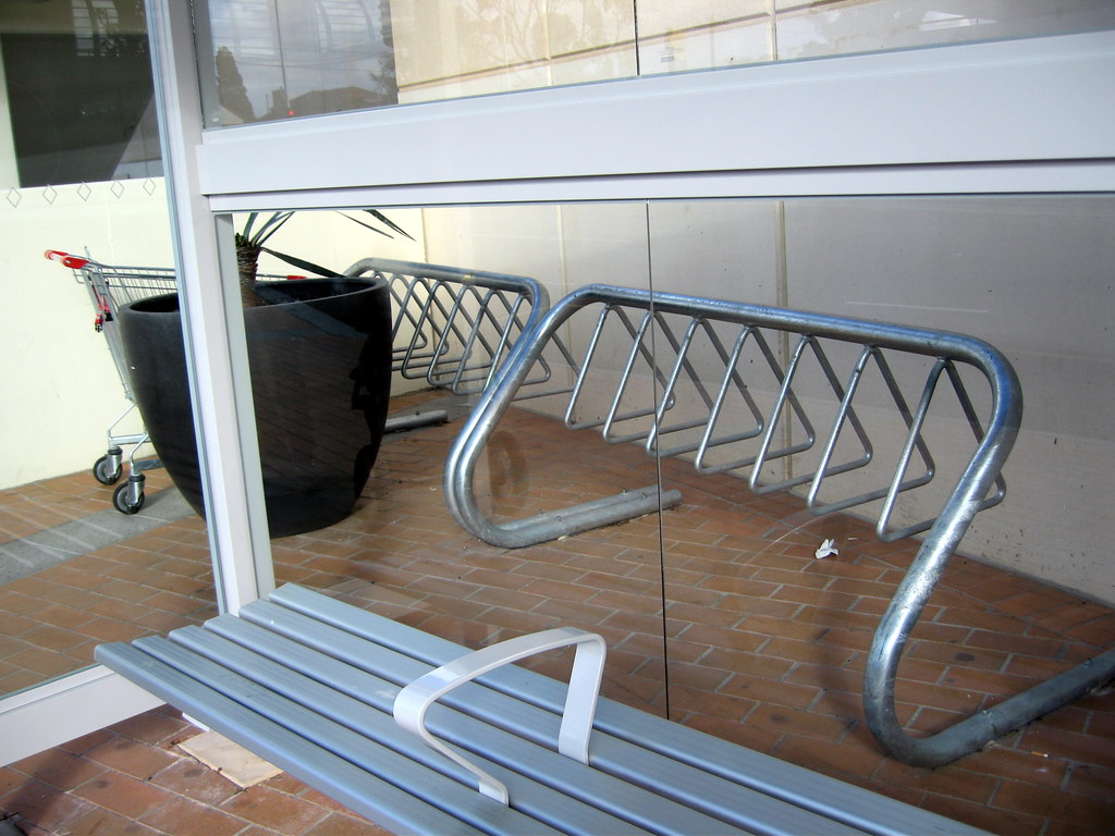 Chadstone's candidate for the world's least accessible bicycle rack