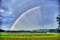 Second Awesome Rainbow in a Month (Enterprise NCC-1701) Tags: colors field rain weather clouds rainbow pentax prism hdr phenomenon k10d southcarolinathunderstorms