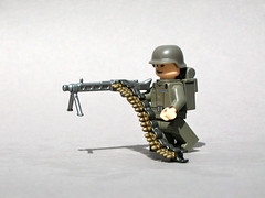 BrickArms MG42 and Buildable Ammo Chain Prototypes (Dunechaser) Tags: lego chain prototype minifig minifigs custom ammo accessory mg42 brickarms