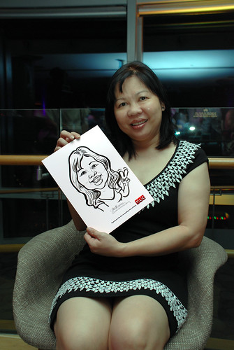 Caricature live sketching for TLC - 17