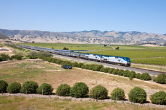 Coast Starlight (Nohab0100) Tags: california train tren amtrak locomotive genesis ge sanluisobispo locomotora comboio coaststarlight locomotiva p42