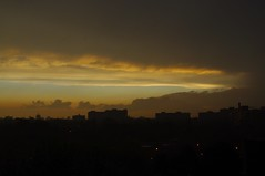 5 a.m. after the storm (jmaxtours) Tags: sky toronto ontario storm yellow sunrise grey w stormy etobicoke 5am torontoontario therebeastormabrewin