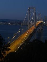 Bridge at 6:30 (momontai) Tags: bridge sunrise island bay san francisco long exposure treasure traffic