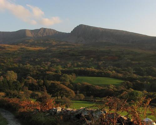 Cadair Idris in autumn sunlight