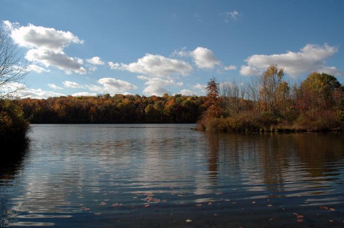 fall hike ripples