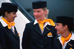 Lufthansa 2002-2010 (baldpipeguy) Tags: cabin uniform flight crew airline lufthansa attendants