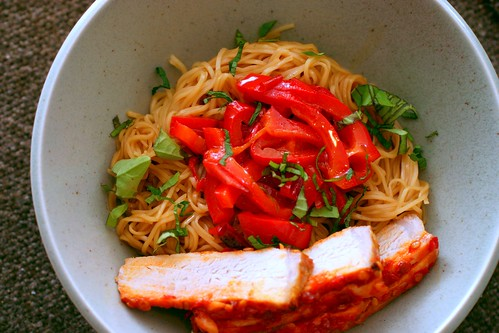 chile-garlic egg noodles