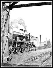 PREPARING TO WORK THE IRISH MAIL (Norfolkboy1) Tags: original england irish pen ink br mail drawing shed railway steam locomotive stipple rapidograph lms holyhead royalscot panthonybromage
