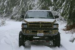 4-Wheel drive needed here (Jenni Reynolds-Kebler) Tags: winter snow art mud 4x4 vinyl camo 100views dodge 300views ram camoflauge 1500 4wheeldrive wrangler