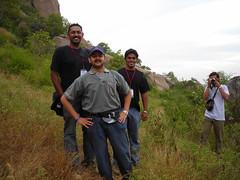 Joi, Praveen and Karthik (aanjhan) Tags: trekking bangalore rappelling rbin ramnagar chimneyclimbing