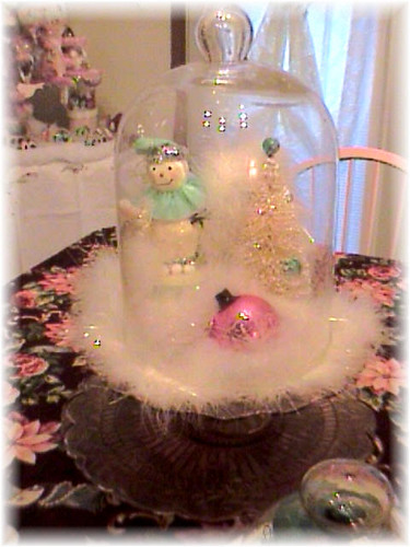 Glass Dome with Vintage Decor
