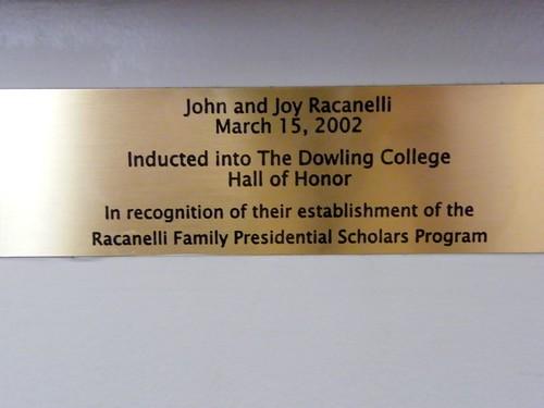 J. Racanelli Plaque