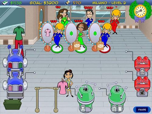 Help Bobbi make cool custom clothes in Dress Shop Hop Game!