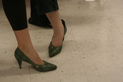 Green Snakeskin Shoes