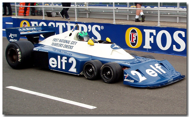 Ex Ronnie Peterson Tyrrell P34 six wheeler F1 Thoroughbred Grand Prix Championship F1 Silverstone 2005