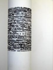 Dot dash (Angela Richardson - Artist) Tags: white black art wisconsin madison transfer ilikeit whodidit humanitiesbuilding itsamystery
