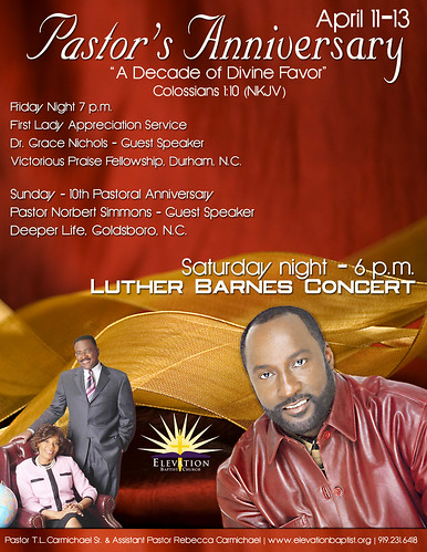 Elevation Pastors 10th Anniversary flyer - a photo on Flickriver