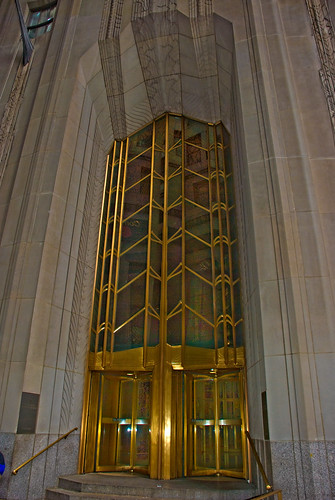 Entrance to Bank of New York Building on Wall Street