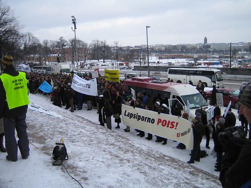 Manifestación contra la censura