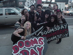 Doomsday promotion, Franklin and Highland, Hollywood, CA