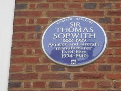Photo of Thomas Sopwith blue plaque
