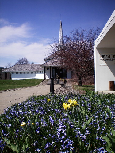 Monastery in spring