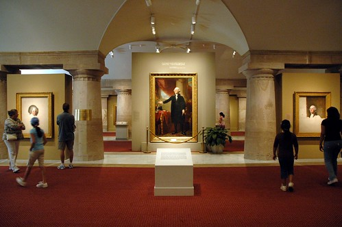 Portraits of the presidents gallery at the national portrait gallery