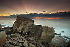 Rock Dice (Tim Donnelly (TimboDon)) Tags: ocean sunrise rocks australia nsw sunrays barrenjoey cokin supershot bangalley golddragon anawesomeshot multimegashot