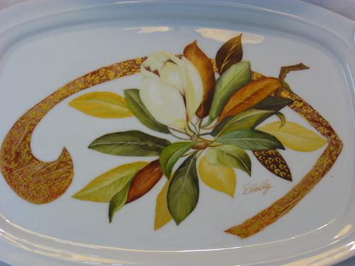 Painted Porcelain Kitchen Backsplash