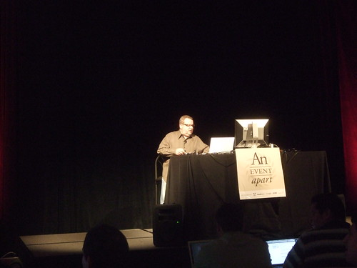 Zeldman presenting