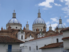 Cpulas y chapiteles de la Catedral Nueva - cupolas and spires of the New Cathedral ~ Cuenca, Ecuador (N3074Echo) Tags: blue church tile ecuador catholic turquoise 19thcentury romantic cuenca 1885 bluetile catedralnueva tiledroof cpulas supershot inmaculadaconcepcin iglesianueva thepritzkerarchitectureprize theothervillage anticando damniwishidtakenthat juanbautistastiehle