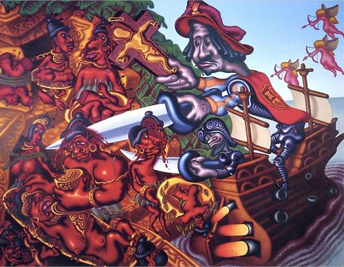 PETER SAUL - Columbus Discovers America.jpg