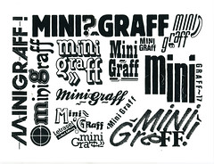 Mini Graff vs Letraset (Miss Mini Graff) Tags: letraset usa minigraff stickers sticker positives text name