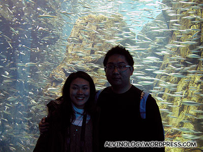 Rachel and I with the sardine