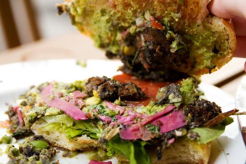 veggie burger innards