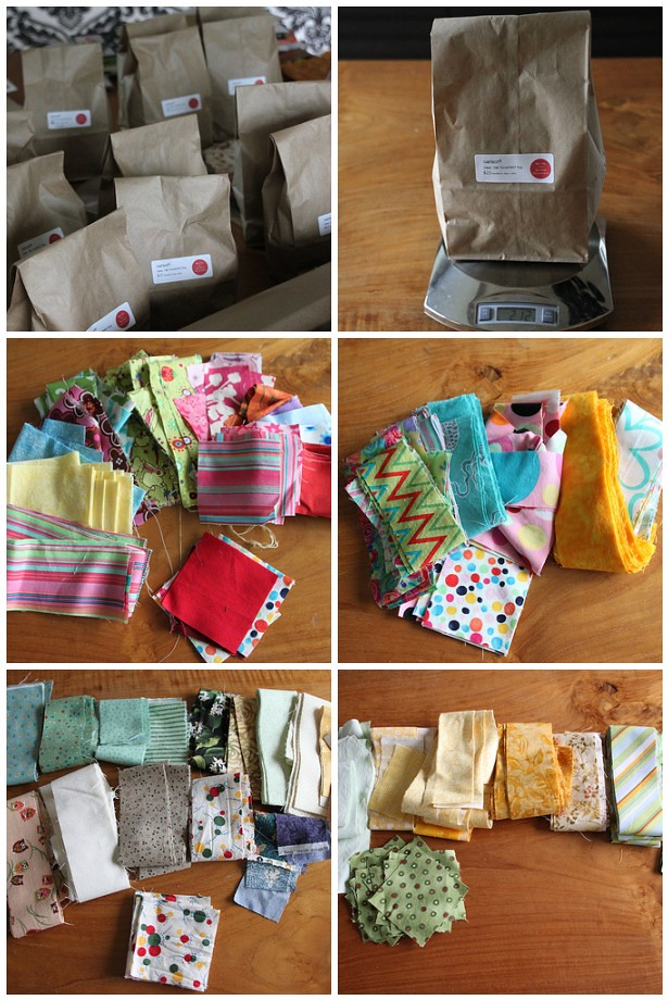 QfQ - Surprise Quilt Strip Bags