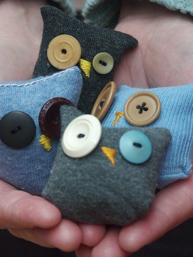 A handful of sock owls