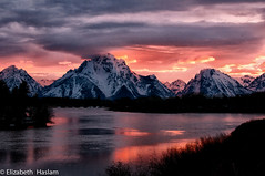 Large Teton (explored) (Elizabeth Haslam) Tags: park pink sunset red sky lake color water us nationalpark moose jackson snakeriver loons wyoming elk mountmoran grandtetons tetons nationalparks moran jacksonhole loon grandtetonnationalpark jacksonlake jennylake 2011 oxbowbend tetonnationalpark elizabethhaslam