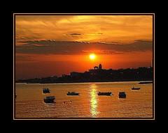 (deger) Tags: sunset sea sky orange colour turkey istanbul deger