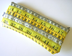Yellow and Brown Measuring Tape Case