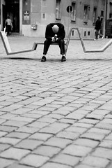 Punk in Drublic (Sakuto) Tags: old people bw beer drunk square punk poland poznan