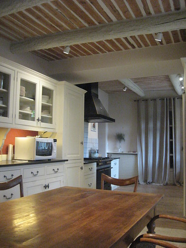 kitchen with wood ceiling