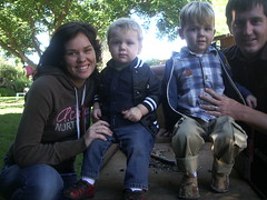 Family at the pumpkin patch 10/13
