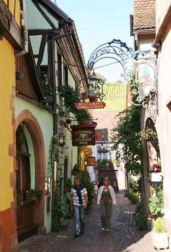 Streets in Riquewihr -1