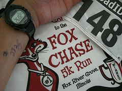 Fox Chase 5K t-shirt and personal best