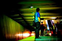 Endlessly waiting... (digitalgopher) Tags: sanfrancisco subway nikon muni d40 tryingtosaveablurryphoto iguessthethoughtwasnice executionsucked