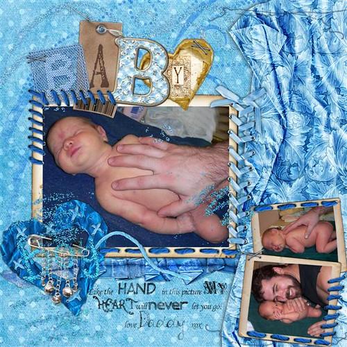 Baby Boy digital scrapbooking page