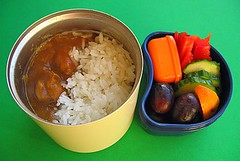 Curry rice lunch for preschooler (Biggie*) Tags: food tangerine lunch rice box cucumber dressing grapes bento ranchdressing bellpepper packedlunch bentobox saladdressing schoollunch biggie chickencurry brownbag lunchinabox japanesecurry curryrice redbellpepper sacklunch bentolunch bentoblog brownbaglunch bentoboxlunch ssbiggie lunchinaboxnet twittermoms