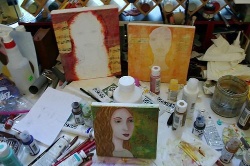 My studio table